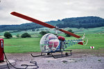 Agusta-Bell 47G-2 D-HOPS in Rothenburg o.d.T., Juni 1971 (Scan vom Dia)