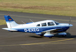 Piper PA-28, D-EXEG, taxy in EDKB - 08.01.2016