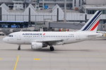 F-GUGA Air France Airbus A318-111  in München zumStart am 14.05.2016