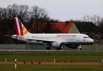 Germanwings A 319-112 D-AKNM kurz vor dem Start in Berlin-Tegel am 29.11.2015