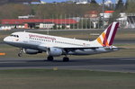 D-AKNR Germanwings Airbus A319-112  beim Start am 20.04.2016 in Tegel