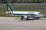 EI-IMX Alitalia Airbus A319-111  zum Start in Tegel am 20.04.2016