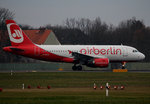 Air Berlin A 319-112 D-ASTX kurz vor dem Start in Berlin-Tegel am 19.12.2015