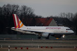 Germanwings A 319-112 D-AKNM kurz vor dem Start in Berlin-Tegel am 09.01.2016