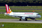 A 319-100 Germanwings, D-AKNV, am Startpunkt in DUS - 01.10.2015