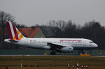 Germanwings A 319-132 D-AGWN kurz vor dem Start in Berlin-Tegel am 05.02.2016