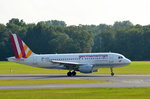 Germanwings Airbus A319-100 D-AKNH beim Start in Hamburg Fuhlsbüttel am 22.06.16