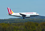 A 319-100 Germanwings, D-AGWO, short final in CGN - 05.05.2016