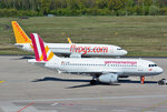 A 319-100 D-AGWP Germanwings und B 737-800 TC-ADP Pegasus in CGN - 05.05.2016