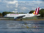 germanwings A319 D-AKNR beim Rollen in Berlin -Tegel im September 2016.