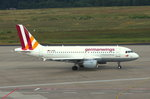 Germanwings,D-AKNN, Airbus A319-112, rollt in Köln-Bonn (CGN/EDDK) zum Start nach Berlin-Tegel (TXL).