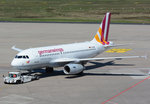 A 319-100 Germanwings D-AGWQ, pushback in CGN - 05.05.2016