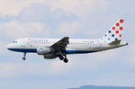 9A-CTH Croatia Airlines Airbus A319-112  am 06.08.2016 in Frankfurt beim Landeanflug