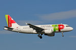 TAP Portugal, CS-TTD, Airbus A319-111,   Amadeo de Souza Cardoso , 29.September 2016, ZRH Zürich, Switzerland.