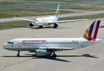 A 319-100 Germanwings, D-AGWK und A 330-200 Eurowings, D-AXGD, taxy in CGN - 10.07.2016