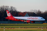 Air Berlin A 320-214 D-ABZE kurz vor dem Start in Berlin-Tegel am 06.12.2015