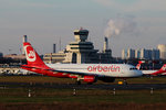 Air Berlin A 320-214 D-ABDW kurz vor dem Start in Berlin-Tegel am 06.12.2015