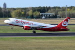 D-ABDO Air Berlin Airbus A320-214  am 20.04.2016 in Tegel beim Start