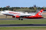 D-ABZE Air Berlin Airbus A320-216   am 20.04.2016 in Tegel gestartet