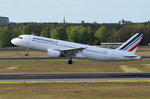 F-GKXN Air France Airbus A320-214   am 04.05.2016 in Tegel gestartet
