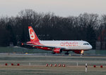 Air Berlin A 320-216 D-ABZN kurz vor dem Start in Berlin-Tegel am 09.01.2016