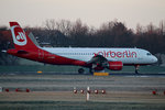 Air Berlin A 320-216 D-ABZF kurz vor dem Start in Berlin-Tegel am 09.01.2016