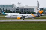 OO-TCT Thomas Cook Airlines Belgium Airbus A320-212  in München beim Start am 17.05.2016