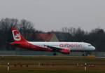 Air Berlin(Belair) A 320-214 HB-IOQ kurz vor dem Start in Berlin-Tegel am 05.02.2016