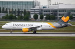 OO-TCT Thomas Cook Airlines Belgium Airbus A320-212  am 20.05.2016 in München beim Start