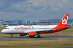 D-ABNN Air Berlin Airbus A320-214  zum Start am 06.08.2016 in Frankfurt