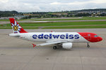 Edelweiss Air, HB-IJU, Airbus A3201-214,  Corvatsch , 05.August 2016, ZRH Zürich, Switzerland.