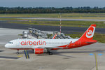 Air Berlin Airbus A320-214(WL) D-ABNX am 11.09.2016 in Düsseldorf.