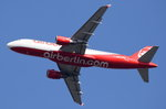 D-ABNN Air Berlin Airbus A320-214 am 24.09.2016 in Tegel gestartet nach Rom