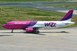 A 320-232 Wizzair, HA-LYU, taxy in CGN - 10.07.2016