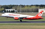 D-ABZL Air Berlin Airbus A320-216   am 20.04.2016 in Tegel beim Start