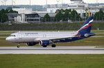 VP-BKC Aeroflot - Russian Airlines Airbus A320-214  vor dem Start in München am 20.05.2016