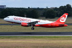 D-ABFN Air Berlin Airbus A320-214  am 07.07.2016 in Tegel gestartet