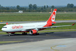 A 330-223 Air Berlin, D-ALPB, taxy in DUS - 01.10.2015