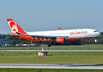 A 330-223 Air Berlin, D-ABXC, short final DUS - 01.10.2015