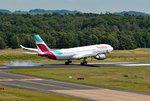 A 330-200 Eurowings, D-AXGD, touchdown in CGN - 10.07.2016