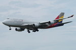 Asiana Airlines Boeing B747-48E HL7428, cn(MSN): 28552,  Frankfurt Rhein-Main International, 22.05.2016.