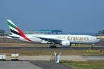 Emirates Airlines, A6-EWD, Boeing 777-21HLER, 11.März 2017, TRV Trivandrum, India.