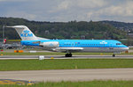 KLM Cityhopper, PH-KZI, Fokker 70, 28.April 2016, ZRH Zürich, Switzerland.