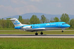 KLM Cityhopper, PH-KZU, Fokker 70, 8.Mai 2016, BSL Basel, Switzerland.